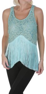 Pin-Up Stars Lace Camisole Top Blue