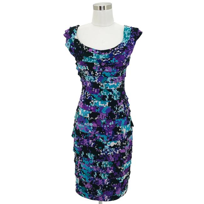Item - Purple Blue Black N19 Large Short Formal Dress Size 14 (L)