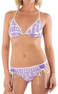 Just Cavalli New Women Logo Triangle String Two Piece Swimsuit Us M-L Bikini Set