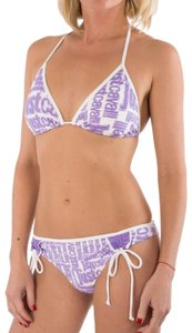Just Cavalli New Women Logo Triangle String Two Piece Swimsuit Us M Bikini Set