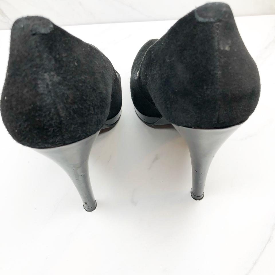 25a36b24b382d Nine West Black Rocha Suede Heels Pumps Size US 6 Regular (M, B ...