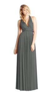 Twobirds Charcoal Jersey Classic Ballgown Modern Bridesmaid/Mob Dress Size OS (one size)