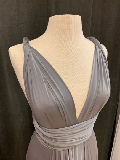 Twobirds Charcoal Jersey Classic Ballgown Modern Bridesmaid/Mob Dress Size OS (one size) Image 10