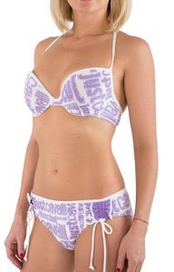 Just Cavalli New Women Designer Logo Padded Push-up Bikini Set US M-L