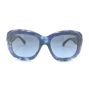 Chanel Square Multi Color Blue Gradient Sunglasses 5324 c.1490/S2