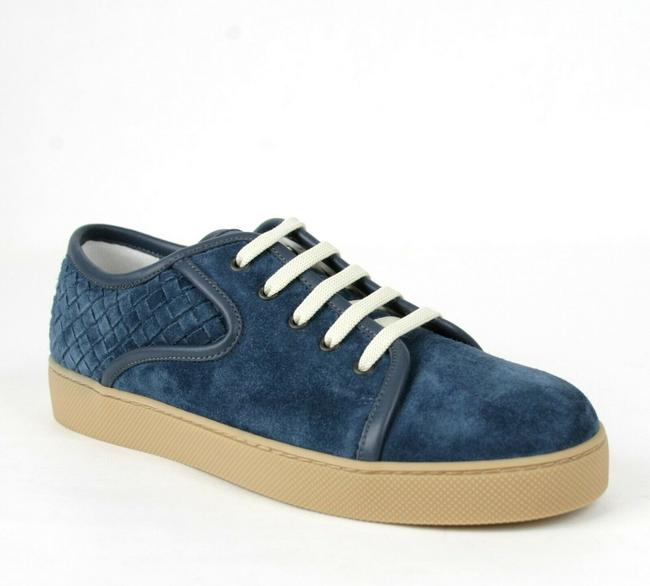 Bottega Veneta Blue Suede Sneaker with Woven Detail Eu 42.5/Us 9.5 475167 4146 Shoes Bottega Veneta Blue Suede Sneaker with Woven Detail Eu 42.5/Us 9.5 475167 4146 Shoes Image 1