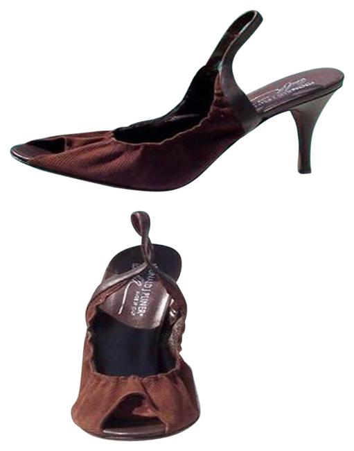 Item - Brown Couture Perforated Suede Leather New Peep Toe Pumps Size US 10 Regular (M, B)