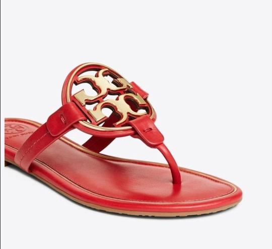 Tory Burch Brilliant Red/Gold Sandals Image 1