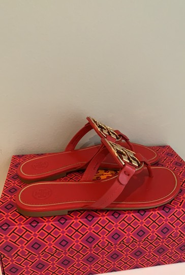 Tory Burch Brilliant Red/Gold Sandals Image 3