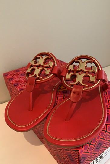 Tory Burch Brilliant Red/Gold Sandals Image 5