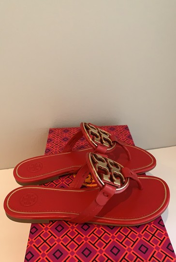 Tory Burch Brilliant Red/Gold Sandals Image 6