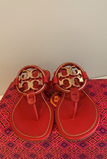 Tory Burch Brilliant Red/Gold Sandals Image 7