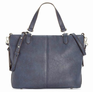 INC International Concepts Convertible Shoulder Crossbody Tote in Navy