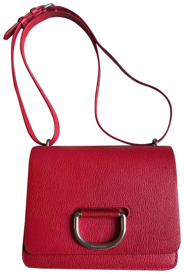 b7e439c1b1d Burberry Small D-ring Coral/Red Goat Skin Leather Cross Body Bag 73% off  retail