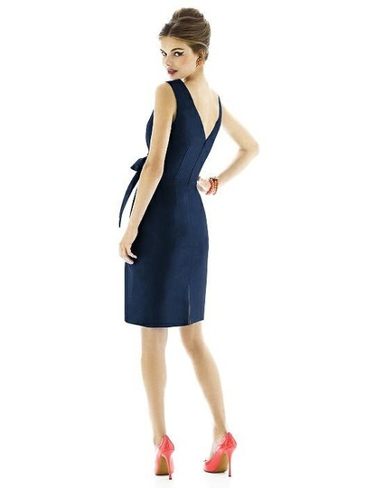 Alfred Sung Midnight Peau De Soie D597 Traditional Bridesmaid/Mob Dress Size 20 (Plus 1x) Image 1