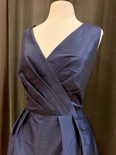 Alfred Sung Midnight Peau De Soie D597 Traditional Bridesmaid/Mob Dress Size 20 (Plus 1x) Image 2
