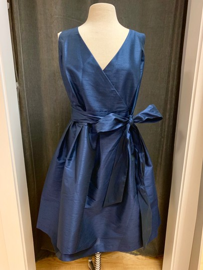 Alfred Sung Midnight Dupioni D666 Traditional Bridesmaid/Mob Dress Size 26 (Plus 3x) Image 2