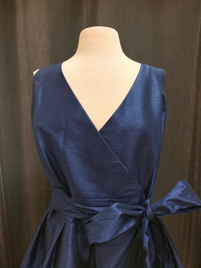 Alfred Sung Midnight Dupioni D666 Traditional Bridesmaid/Mob Dress Size 26 (Plus 3x) Image 3