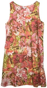 J. Jill short dress Multicolor Linen Floral Tropical Sleeveless on Tradesy