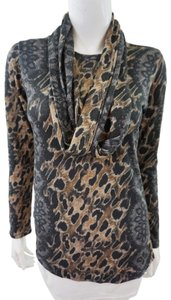 David Cline New With Tags Animal Print Top Multicolor