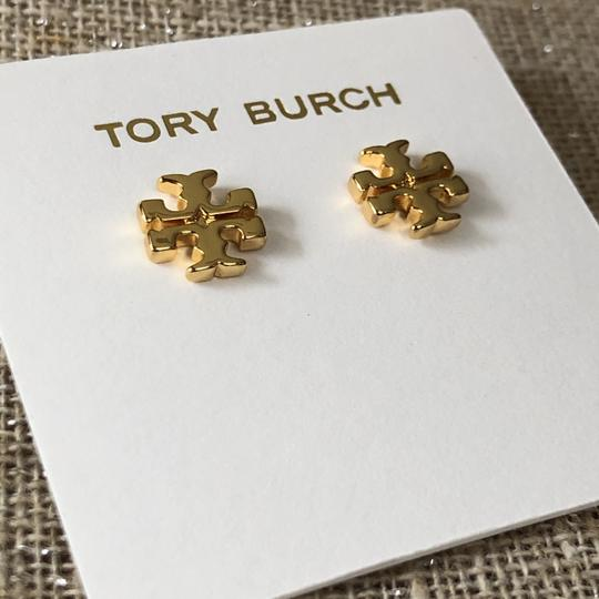 Tory Burch Brand New Tory Burch Small GOLD Double T Logo Studs Image 2