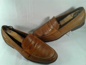 Rockport Brown Tan Walkability Leather Men's Adiprene Casual Loafer 10.5 Shoes