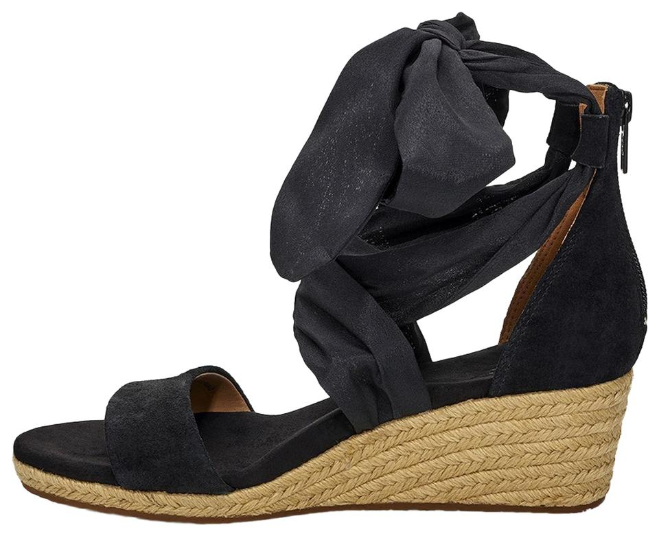 411d1af275c UGG Australia Black Trina Tan Espadrilles Wedges Size EU 37 (Approx. US 7)  Regular (M, B) 46% off retail