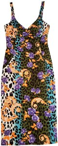 Versace Jeans Collection short dress Multi Colored Floral & Leopard Print on Tradesy