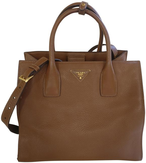 Prada Vitello Daino Satchel Tote Leather Cross Body Bag Prada Vitello Daino Satchel Tote Leather Cross Body Bag Image 1
