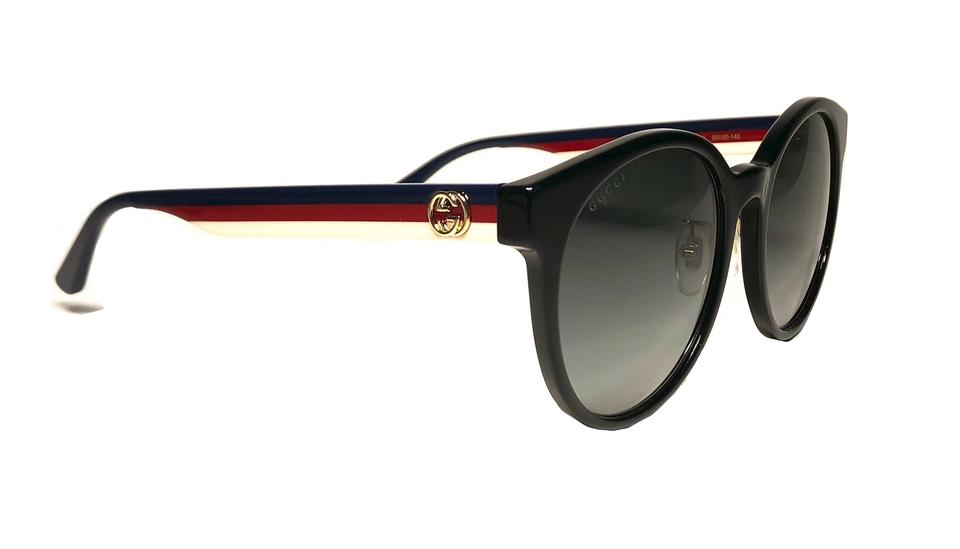 9489c223d Gucci Black Blue Red and White Sides Style Gg0416sk 001 - Free Shipping Round  Sunglasses