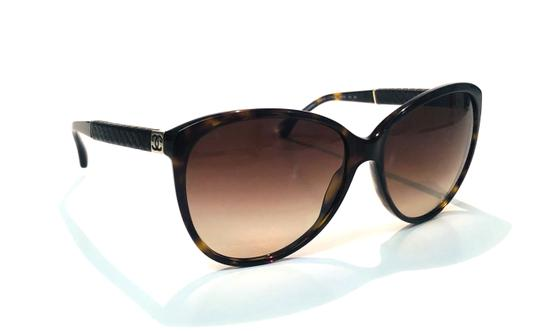 Chanel Vintage Chanel Tortoise Shell Leather CH 5225Q 714 Free 3 Day Shipping Image 2