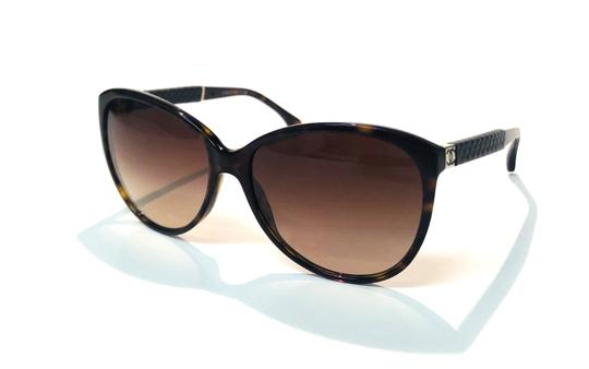 Chanel Vintage Chanel Tortoise Shell Leather CH 5225Q 714 Free 3 Day Shipping Image 6
