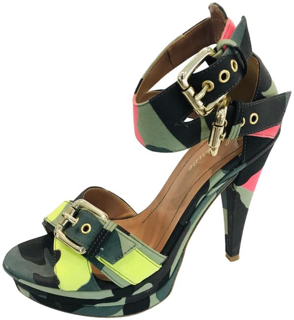 Item - Multicolor Runway Camouflage Sandals Platforms Size EU 39 (Approx. US 9) Regular (M, B)