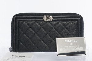 Chanel Quilted Leather Lambskin Organizer Wallet Clutch