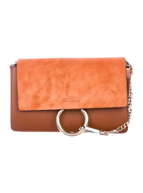Item - Faye Small Tobacco Suede and Leather Cross Body Bag