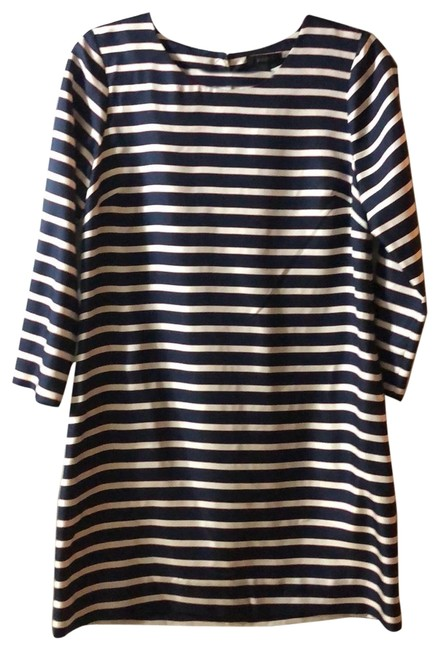 Item - Navy / Red / White Striped Short Work/Office Dress Size 2 (XS)