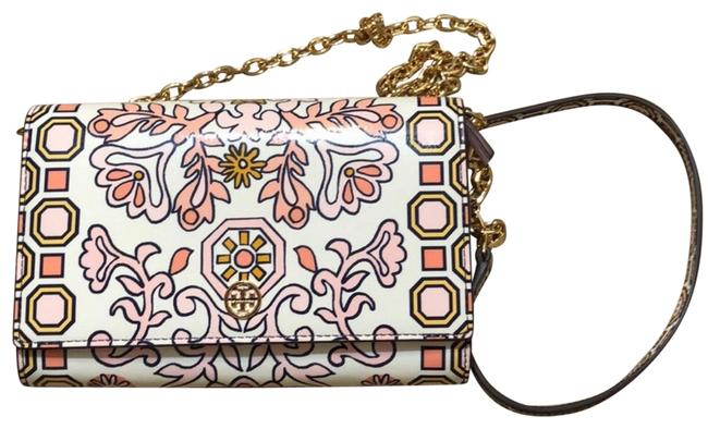Item - Clutch Hicks Garden Party White Pink Patent Leather Cross Body Bag