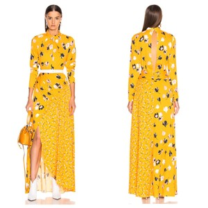 Yellow Maxi Dress by self-portrait