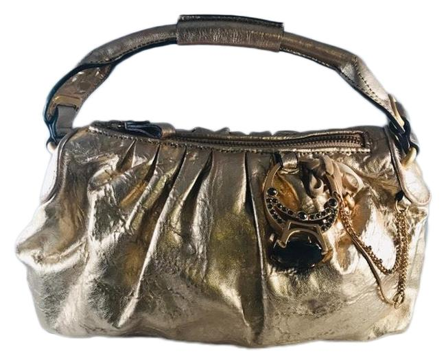 Item - Engagement Ring Tycoon Satchel Gold Leather Hobo Bag