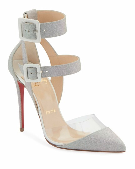 Christian Louboutin Pigalle Follies Stiletto Glitter Classic silver Pumps Image 0