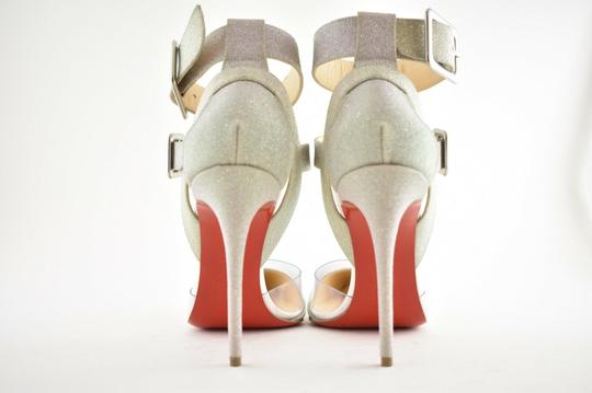 Christian Louboutin Pigalle Follies Stiletto Glitter Classic silver Pumps Image 10
