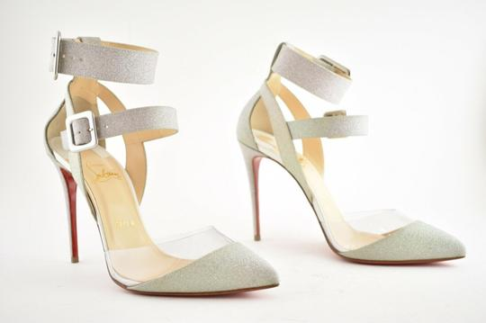 Christian Louboutin Pigalle Follies Stiletto Glitter Classic silver Pumps Image 3