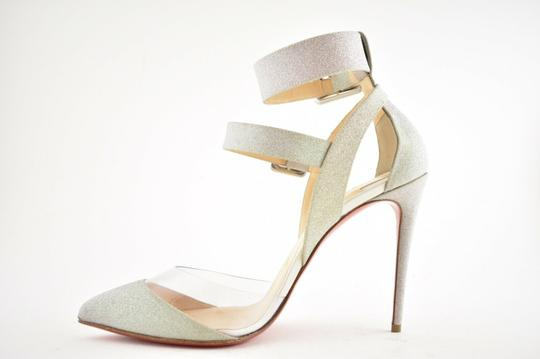 Christian Louboutin Pigalle Follies Stiletto Glitter Classic silver Pumps Image 8