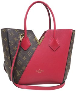 Louis Vuitton Lv Kimono Pm Monogram&red Canvas&calfskin Satchel in Brown and red
