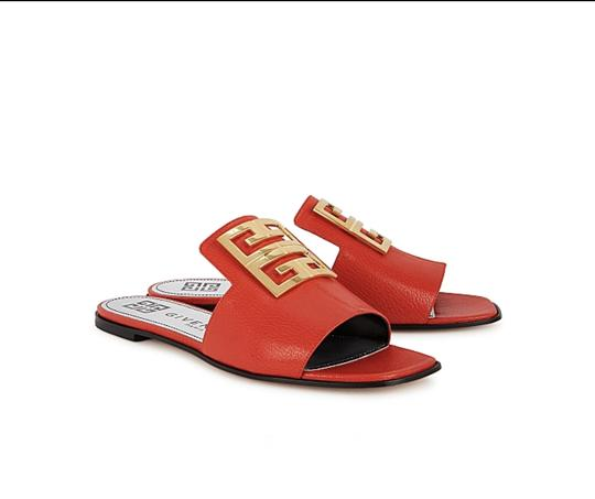 Givenchy Red Mules Image 1