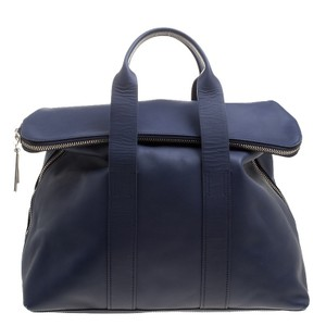 3.1 Phillip Lim Leather Tote in Navy Blue