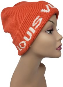 Louis Vuitton Orange white Louis Vuitton cashmere-blend Logo Cup beanie
