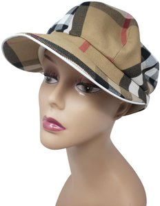 Burberry Beige multicolor Burberry Nova Check printed newsboy hat L