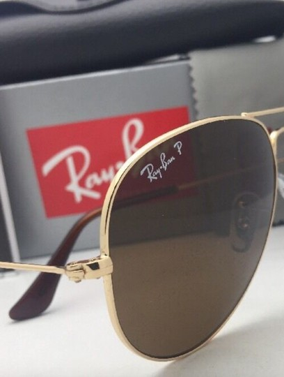 Ray-Ban Polarized RAY-BAN Sunglasses LARGE METAL RB 3025 001/57 55-14 140 Gold Image 10