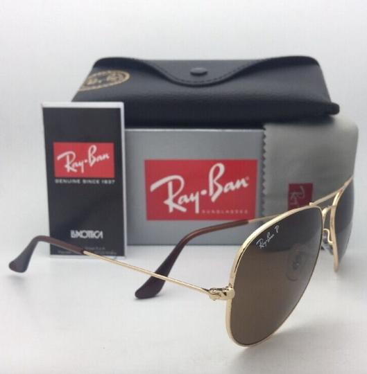 Ray-Ban Polarized RAY-BAN Sunglasses LARGE METAL RB 3025 001/57 55-14 140 Gold Image 7